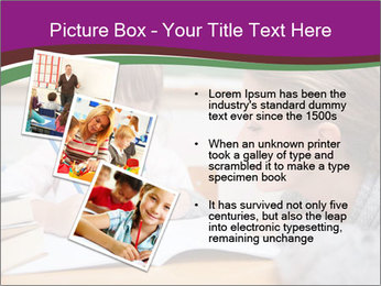 Cute schoolgirl PowerPoint Template - Slide 17