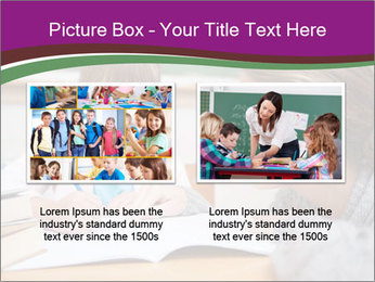 Cute schoolgirl PowerPoint Template - Slide 18