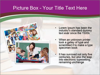 Cute schoolgirl PowerPoint Template - Slide 20