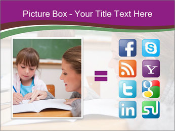 Cute schoolgirl PowerPoint Template - Slide 21