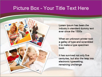Cute schoolgirl PowerPoint Template - Slide 23