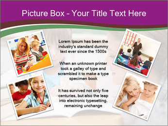 Cute schoolgirl PowerPoint Template - Slide 24