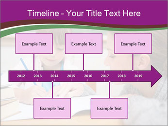 Cute schoolgirl PowerPoint Template - Slide 28