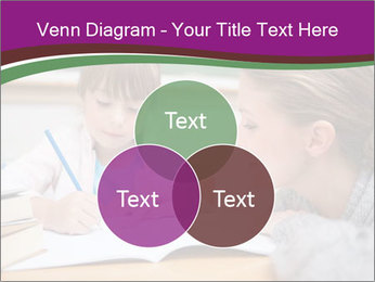 Cute schoolgirl PowerPoint Template - Slide 33
