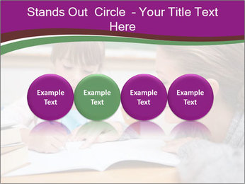 Cute schoolgirl PowerPoint Template - Slide 76