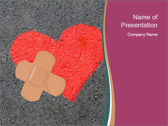 Broken heart PowerPoint Template