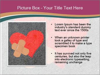 Broken heart PowerPoint Template - Slide 13