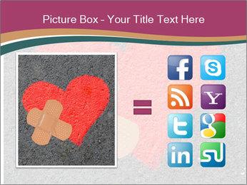Broken heart PowerPoint Template - Slide 21