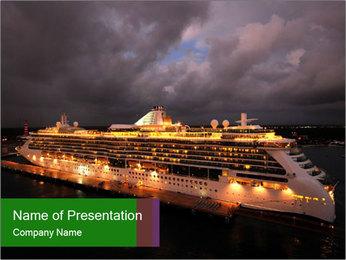 Ocean liner PowerPoint Template