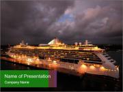 Ocean liner PowerPoint Templates