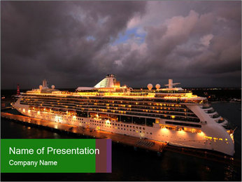 Ocean liner PowerPoint Templates - Slide 1