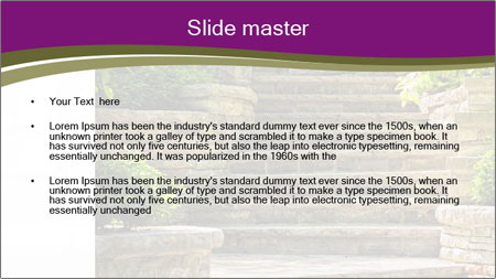 Natural stone stairs PowerPoint Template - Slide 2
