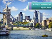 Financial District of London PowerPoint Templates