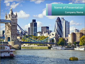 Financial District of London PowerPoint Template - Slide 1