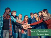 Happy College Students PowerPoint Templates