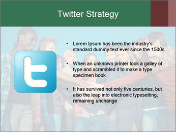 Happy College Students PowerPoint Template - Slide 9