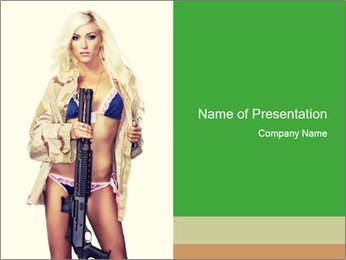 Sexy blond PowerPoint Template
