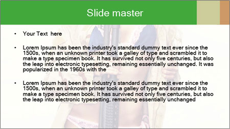 Sexy blond PowerPoint Template - Slide 2