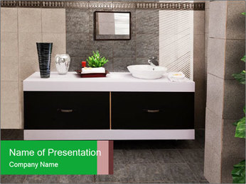 Modern bathroom PowerPoint Templates - Slide 1