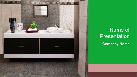 Modern bathroom PowerPoint Template