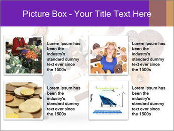 Woman is kicking a donut PowerPoint Template - Slide 14