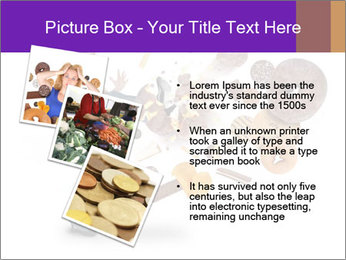Woman is kicking a donut PowerPoint Template - Slide 17