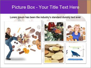 Woman is kicking a donut PowerPoint Template - Slide 19