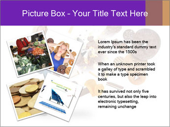 Woman is kicking a donut PowerPoint Template - Slide 23