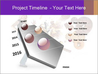 Woman is kicking a donut PowerPoint Template - Slide 26