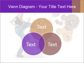 Woman is kicking a donut PowerPoint Template - Slide 33