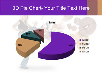 Woman is kicking a donut PowerPoint Template - Slide 35