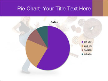 Woman is kicking a donut PowerPoint Template - Slide 36