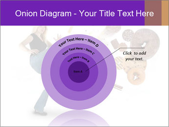 Woman is kicking a donut PowerPoint Template - Slide 61
