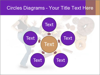 Woman is kicking a donut PowerPoint Template - Slide 78
