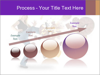 Woman is kicking a donut PowerPoint Template - Slide 87