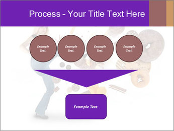 Woman is kicking a donut PowerPoint Template - Slide 93