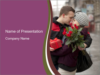 A man dating PowerPoint Template