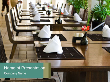 Set up table PowerPoint Templates