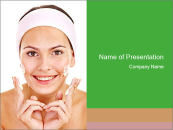 Natural homemade masks PowerPoint Template