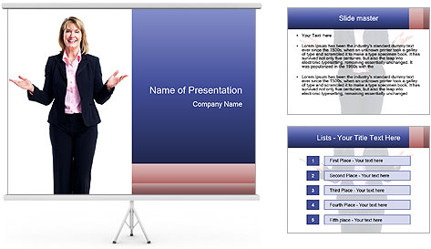 Executive business woman PowerPoint Template