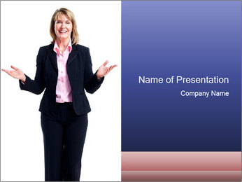 Executive business woman PowerPoint Template - Slide 1