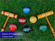 Croquet mallet PowerPoint Template