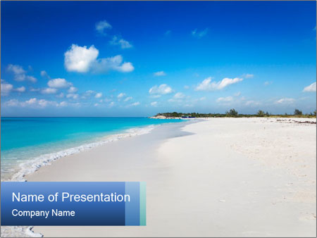 The white sands of secluded PowerPoint Templates