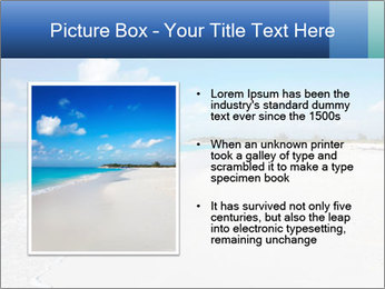 The white sands of secluded PowerPoint Template - Slide 13