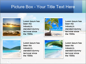 The white sands of secluded PowerPoint Template - Slide 14