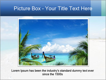 The white sands of secluded PowerPoint Template - Slide 15