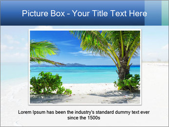 The white sands of secluded PowerPoint Template - Slide 16