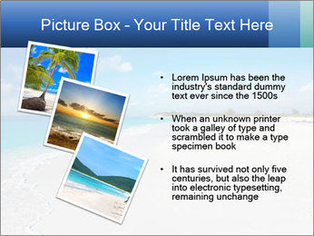 The white sands of secluded PowerPoint Template - Slide 17