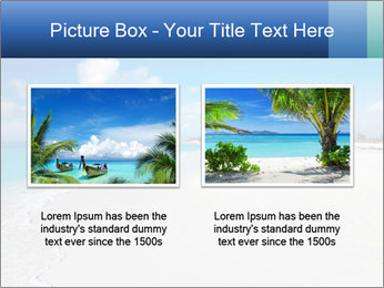 The white sands of secluded PowerPoint Template - Slide 18