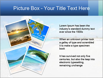 The white sands of secluded PowerPoint Template - Slide 23